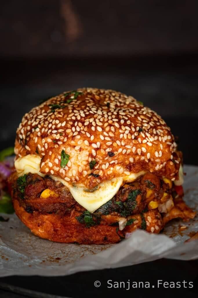 Indian Veggie Burger recipe