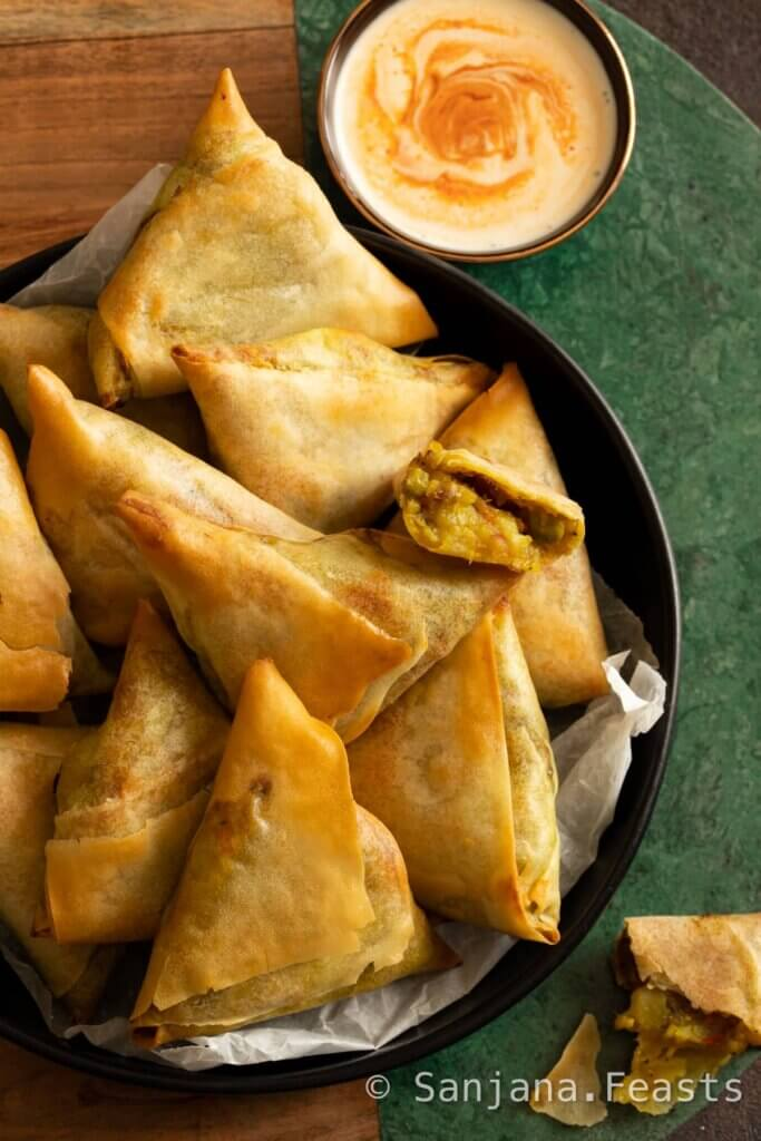 Air fried samosa recipe