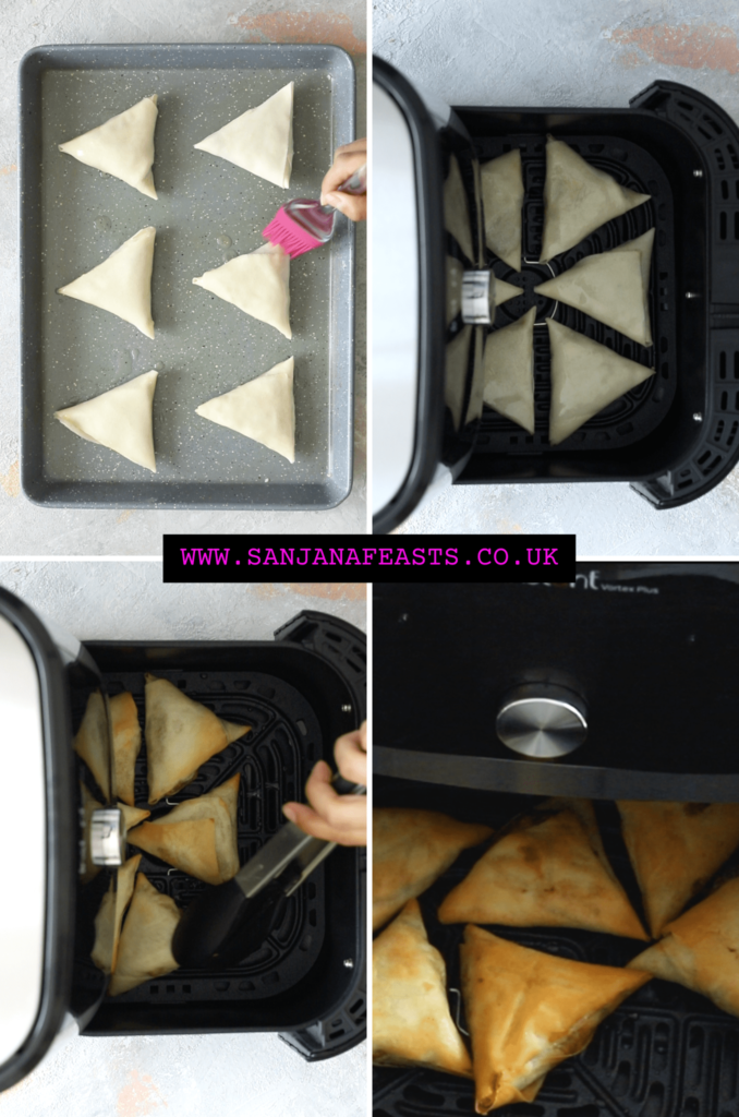 How to air fry samosas