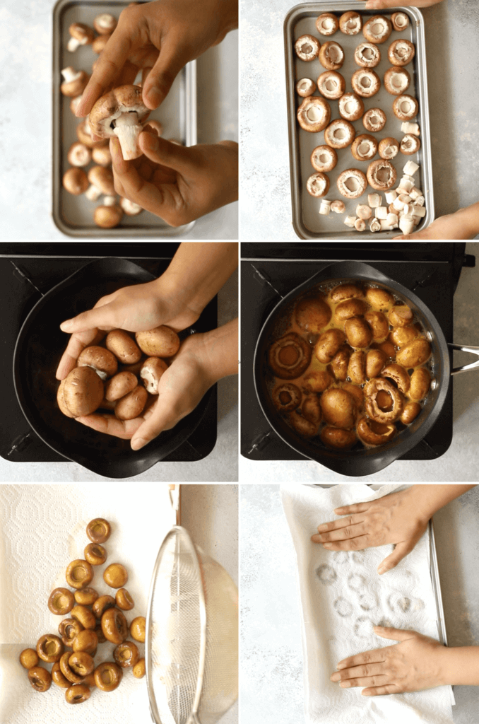 How to boil mushrooms for tikka
