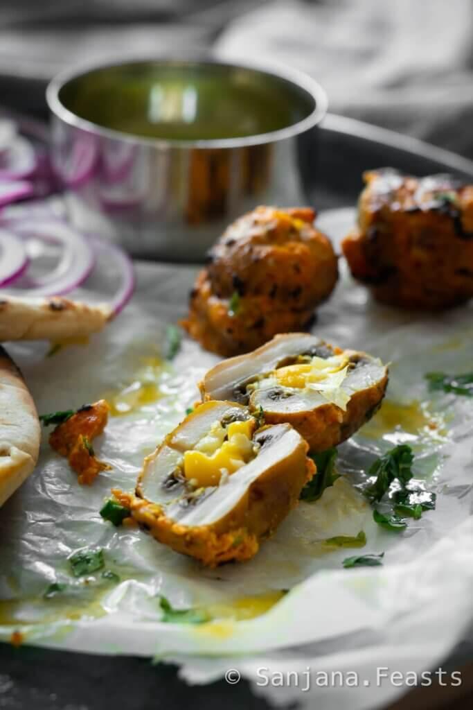 How to make stuffed mushroom kebabs