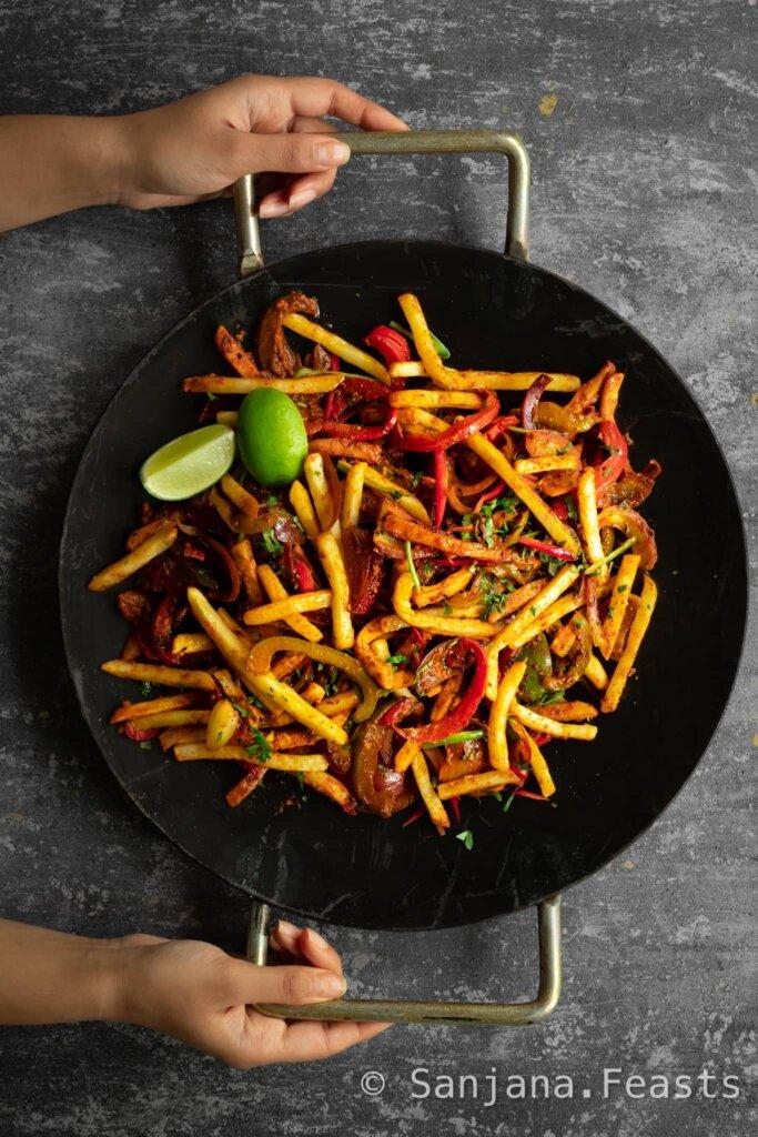 Jalfrezi Fries recipe Masala Chips