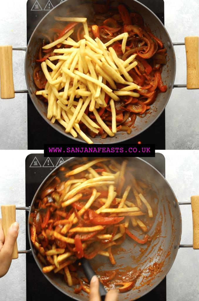 Masala Chips or Jalfrezi chips