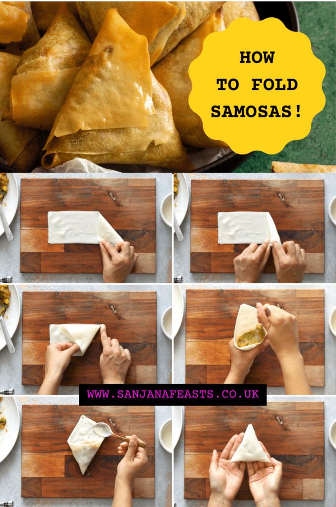 Samosa folding techniques