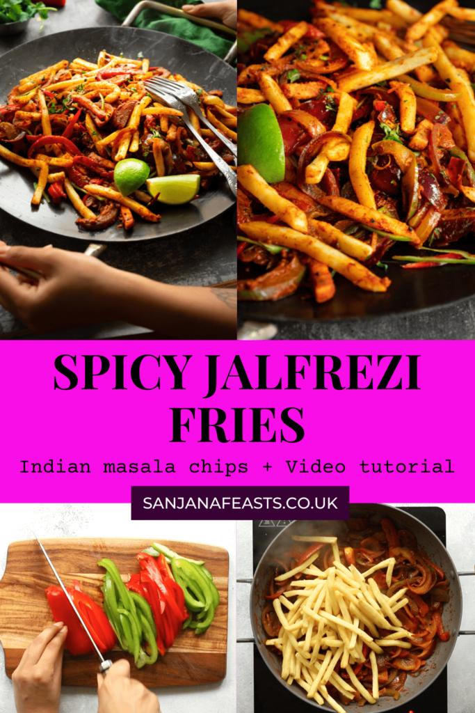 Spicy Indian Jalfrezi Fries recipe - Sanjana Feasts