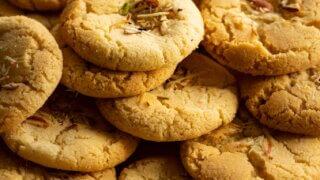 Chewy Almond Cookies recipe Sanjana Feasts