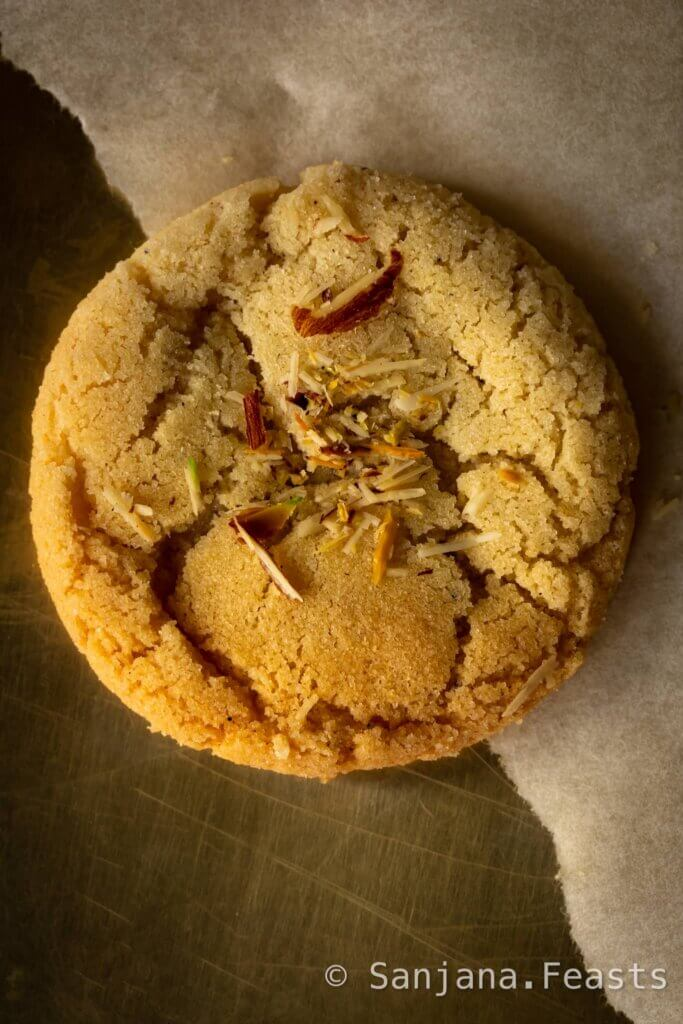 Eggless Indian Cookies with Almonds