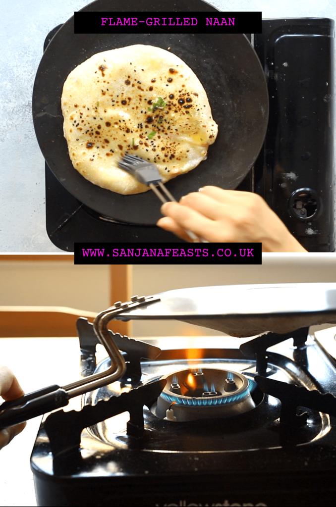 How to cook naan without a tandoor