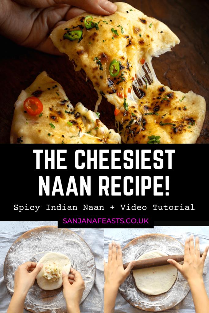 The Cheesiest Naan - Bullet Cheese Naan Sanjana Feasts