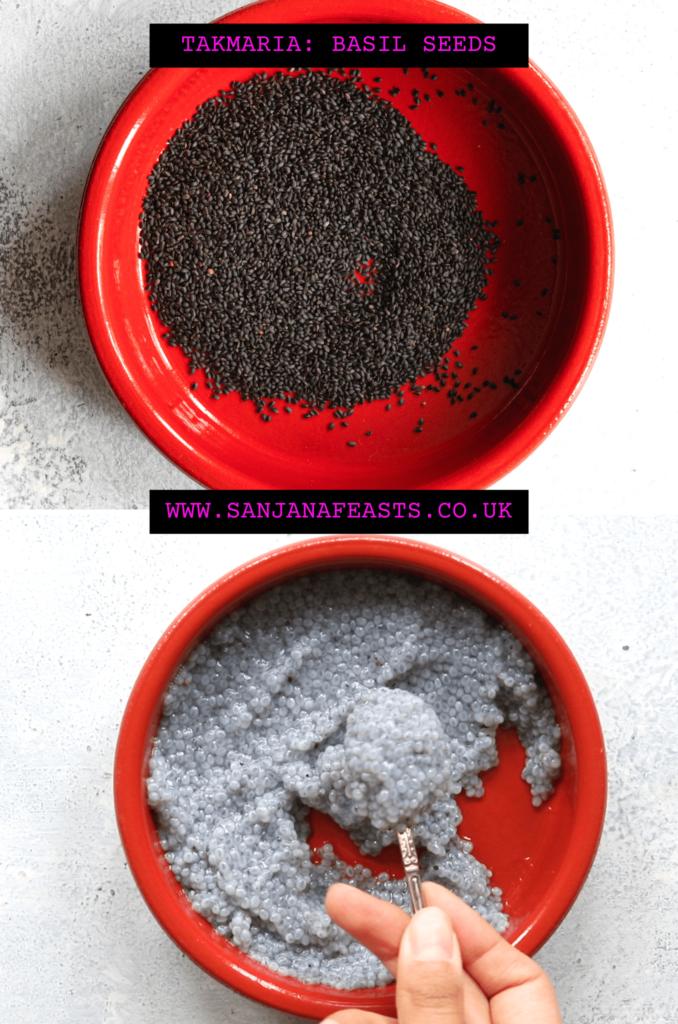 How to prepare takmaria sabja seeds