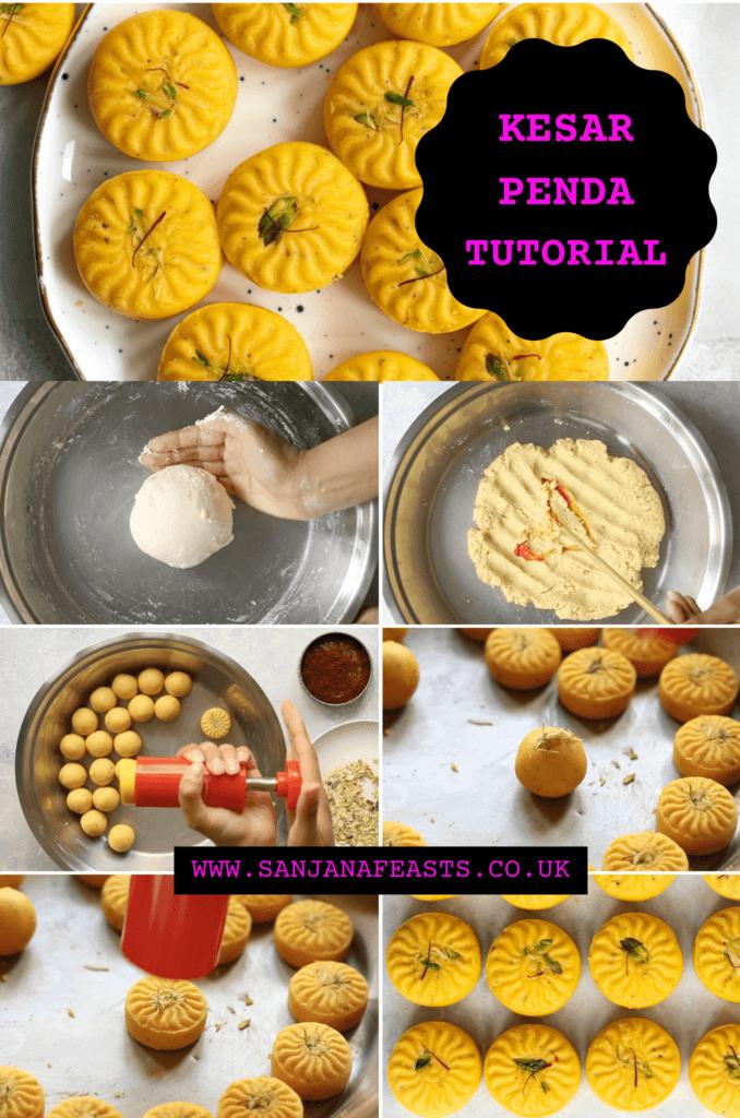 Kesar Penda Saffron Yellow Peda recipe