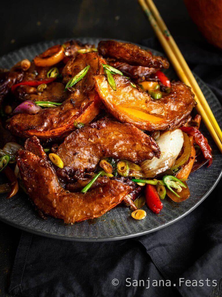 How to make Indo-Chinese Crispy Chilli Pumpkin