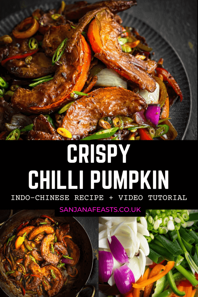 Indo-Chinese Crispy Chilli Pumpkin - Sanjana Feasts (1)