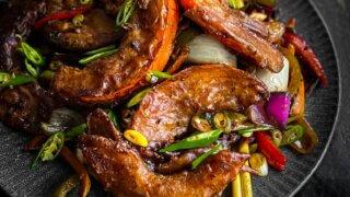 Indo-Chinese Crispy Chilli Pumpkin recipe