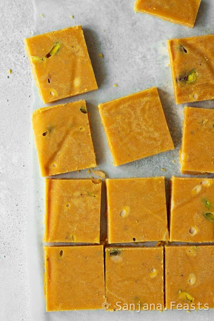 How to make perfect besan barfi
